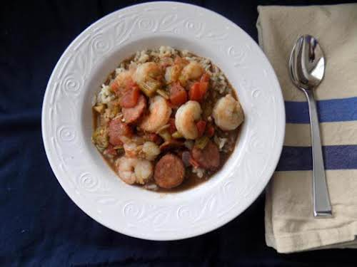 """Homemade Shrimp Gumbo from Scratch """"With great spice and big flavors, this gumbo..."""