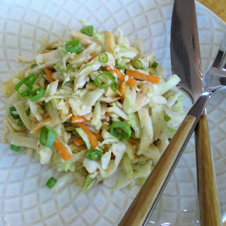 Ginger-Sesame Cabbage Slaw with Almonds
