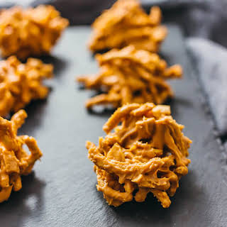 Butterscotch Haystacks With Chow Mein Noodles.
