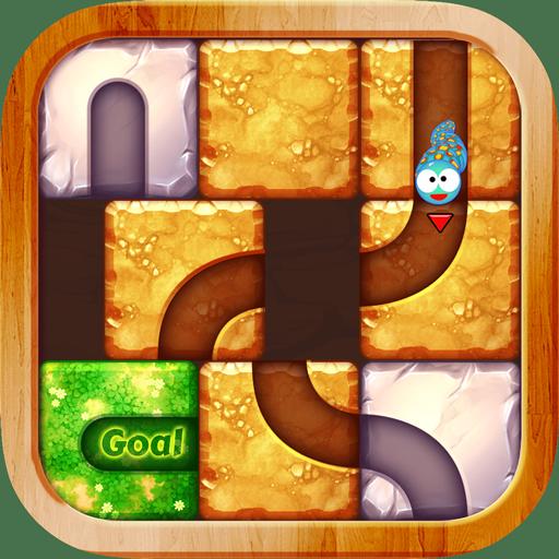 Snake UnBlock - Unroll Me & slide puzzle