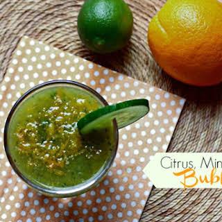 Citrus Mint & Kiwi Bubbly.
