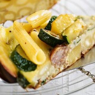 Penne-Kartoffel-Frittata mit Salsiccia