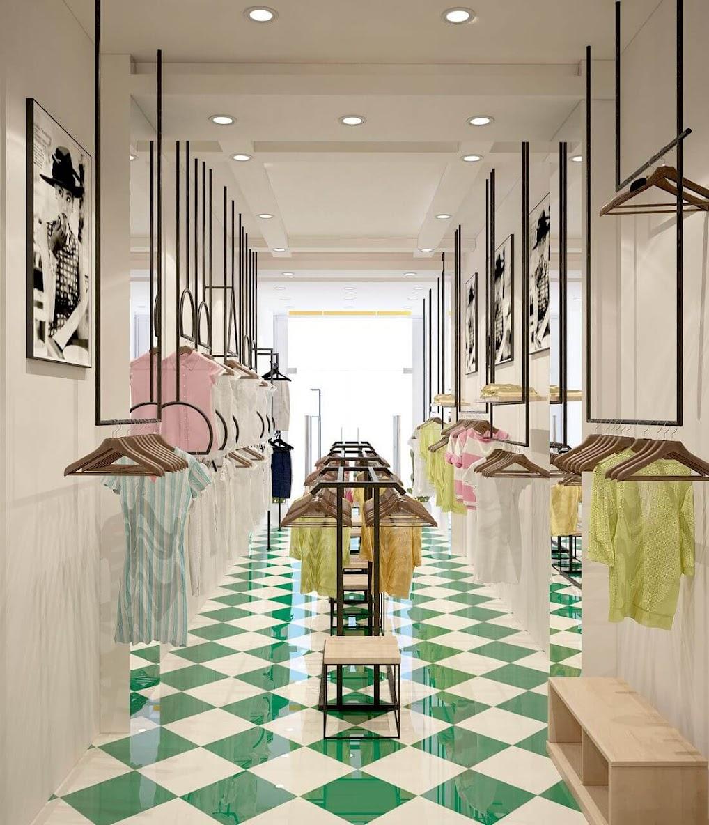 Thiết kế cửa hàng thời trang Hanosimex
