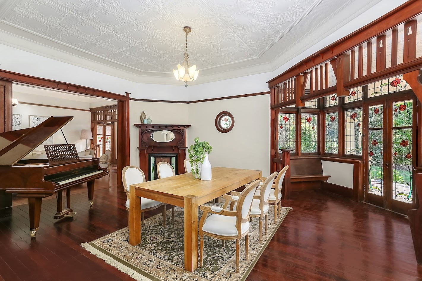 Beautiful ornate living area at Blairgowrie, 32 Abuklea Road, Epping NSW 2121