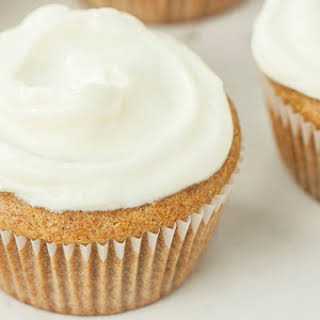Honey Cupcakes with Vanilla Frosting.