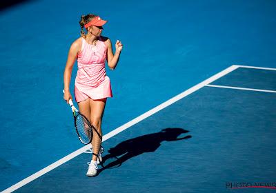 """Elise Mertens is trots na haar mooie zege tegen Simona Halep: """"Eén van de straffere prestaties uit mijn carrière"""""""