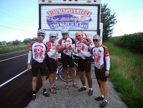 Photo: Day 46 August 3 2013 Brantford ON to Niagara Falls NY On the Canadian side of falls  At mile 63 of the ride we stop to celebrate that we have reached the 3000 mile point of our journey