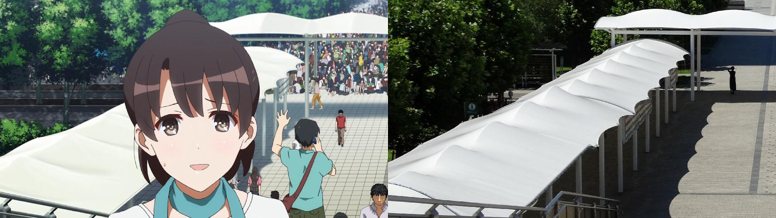 saekano, anime, real life, pilgrimage