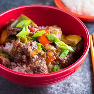 Pressure Cooker Chinese Pepper Steak.