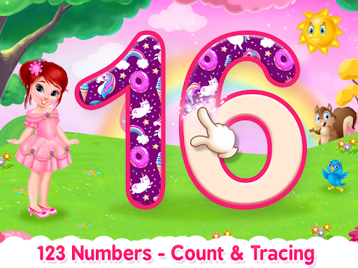 Princess ABC Letters, 123 Numbers Tracing For Kids  screenshots 2