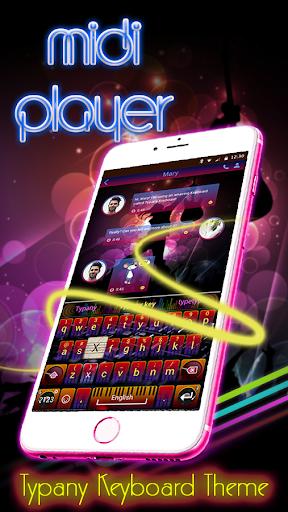 mod Midi Player Theme Keyboard 4.5 screenshots 1