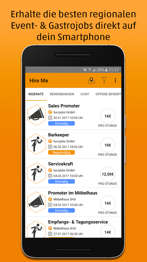 Hire Me - Jobs via App- screenshot