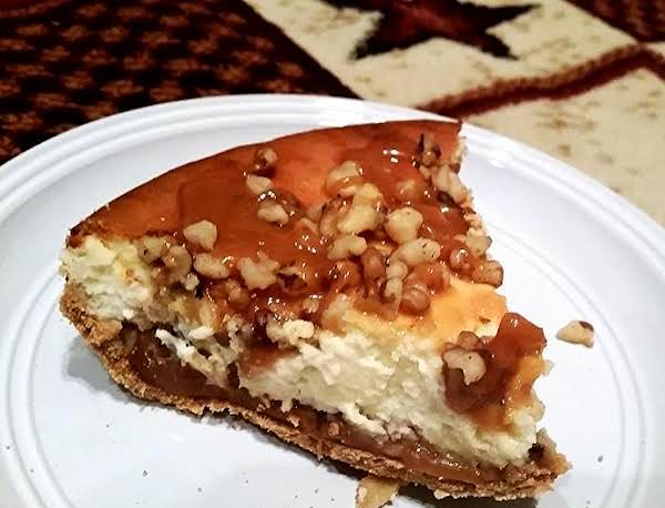 ~ Walnut Caramel Cheesecake ~ Recipe