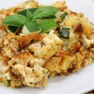 Zucchini Casserole with Stuffing.