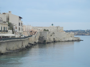 Photo: Castle, seen while walking around Ortygia trying to work off our lunch.