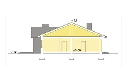 Agat wersja A dach 22 stopnie - Przekrój
