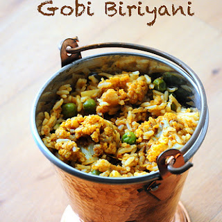 Super Quick Cauliflower / Gobi Biryani