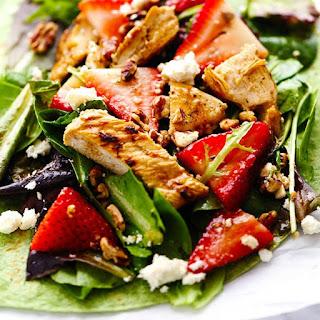Strawberry Balsamic Chicken Salad Wrap