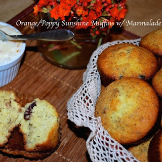 Orange Poppy Sunshine Muffins with Marmalade Butter