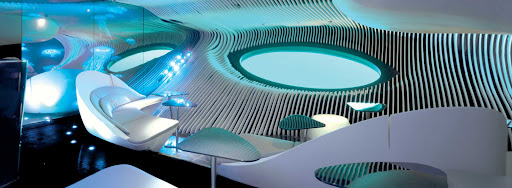 underwater-blue-eye-lounge.jpg - The Blue Eye lounge aboard Ponant's new yachts gives guests a closeup view of underwater sea life.