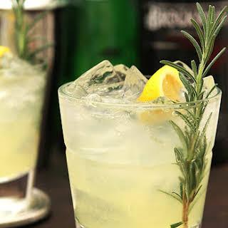 Rosemary and Gin Sparkling Lemonade.
