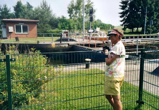 Photo: Sluse på Elbe-Lübeck kanalen.