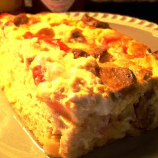Sausage and Goat Cheese Strata