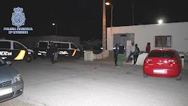 Imagen del desarrollo en Vícar de la Operación Cacique, difundida por la Policía Nacional.