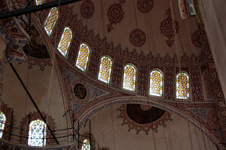 Photo: Day 110 - The Ceiling of the Blue Mosque #2