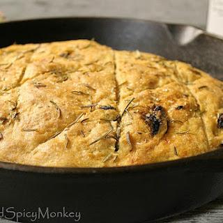 Rosemary and Sun Dried Tomato Whole Wheat Focaccia Bread.