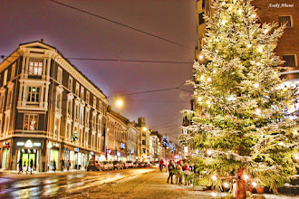 Photo: Christmas tree from Norway  ノルウェーもクリスマス一色。きらきら。  #WorldwideChristmasAlbum curated by +Randy Jay Braun and +Louisa Catharine Forsyth