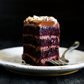 Vegan Chocolate Hazelnut Cake with Whipped Ganache