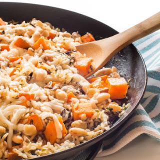 Wild Rice and Sweet Potato Skillet Dinner.