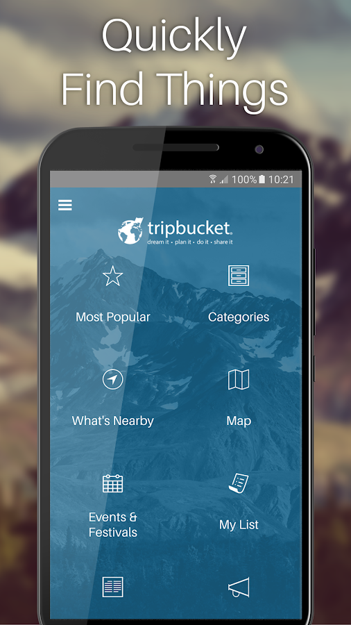 TripBucket- screenshot