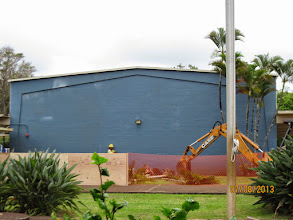 Photo: When I came out at around lunchtime, this is the scene that greeted me. Notice that the palm trees are almost all gone!
