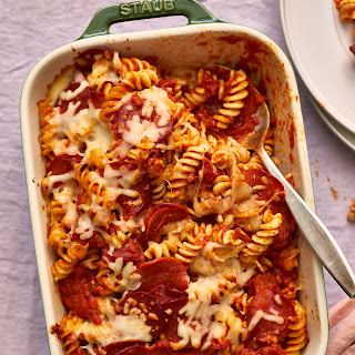Pepperoni Pizza Baked Pasta.