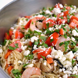 Greek Style Shrimp and Orzo