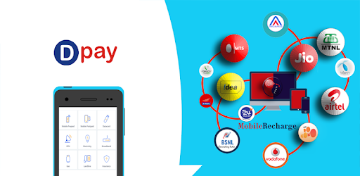 Dpay Mobile application provides Recharge, bill payments, DMT, AEPS services