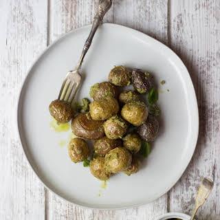Pesto-Roasted Baby Potatoes.