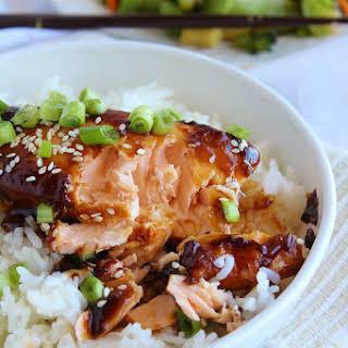 Oven-Baked Teriyaki Salmon.