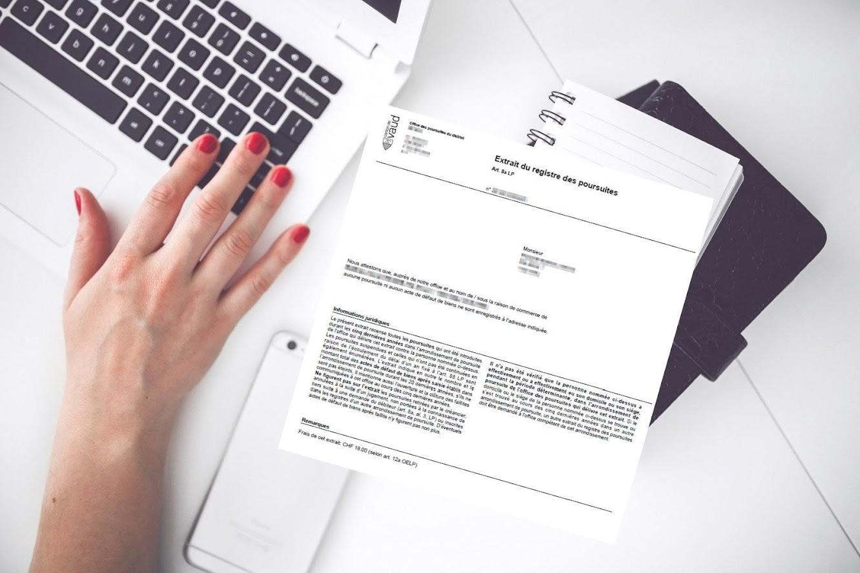 Extrait du registre des poursuites et faillites