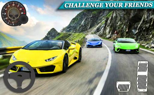 voiture course conduite lamborghini gratuit 3D  captures d'écran 1