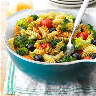Colorful Spiral Pasta Salad.