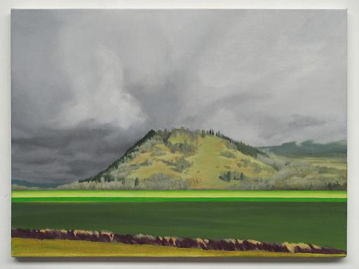 Mortenson_Color Fields Oregon, 2018, peinture à l'huile 73 x 54 cm