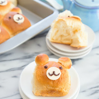 Bear Shaped Milk Bread Rolls Recipe