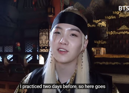 Suga Practiced for 2 Days for his Sword dance Scene in Daechwita MV