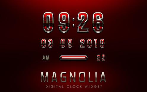 Download Android App MAGNOLIA Digital Clock Widget for