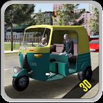 Tuk Tuk Rickshaw City Drive 3D
