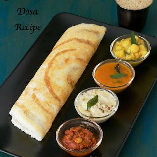 Ghee Roast Dosa Recipe | Crispy Paper Dosa | Nei Roast.