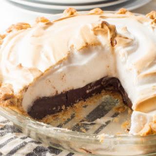 Vegan Chocolate Meringue Pie